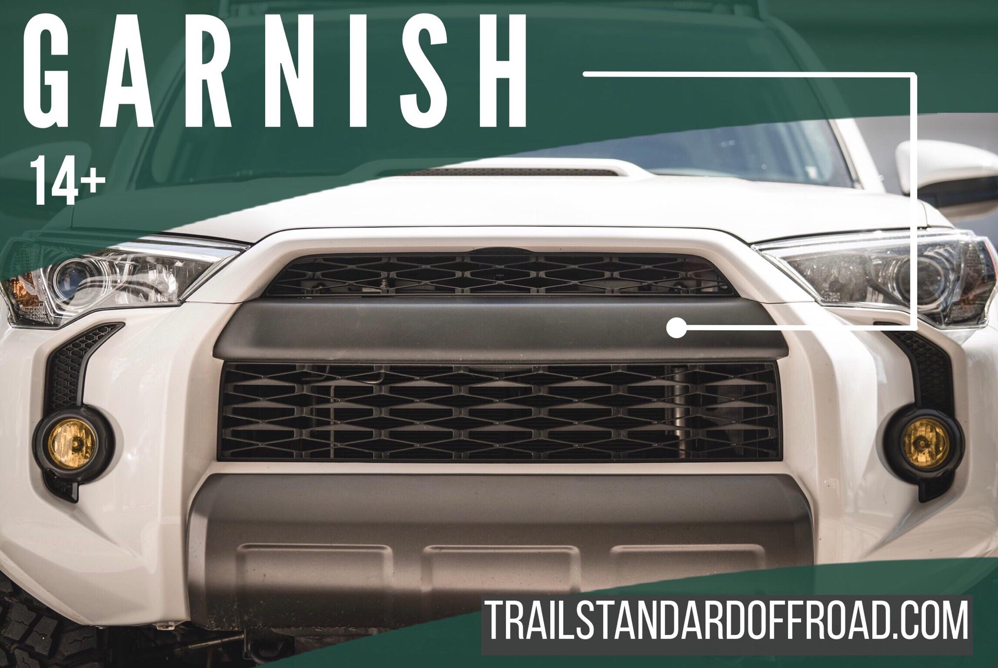 Satin Matte Black Tso Pro Grille 4runner 2014 19 Trail Standard Offroad
